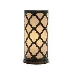 Benzara Appealing Metal Paper Table Lamp