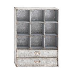 Benzara Amazing Styled Decorative Metal Storage Shelf