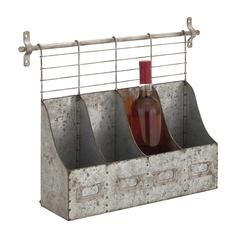 Benzara Customary Styled Metal Wall Rack