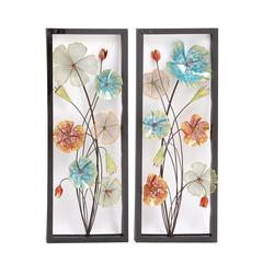 Benzara Striking Styled Metal Wall Decor 2 Assorted