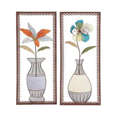 Artistic Styled Metal Wall Decor 2 Assorted