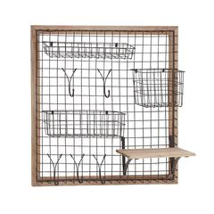 The Ingenious Wood Metal Wall Strong Rack