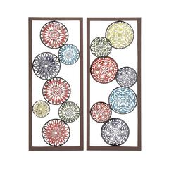 Benzara Customary Styled Metal Wall Decor 2 Assorted