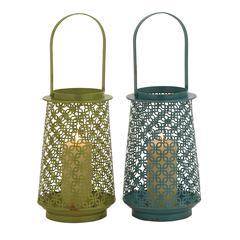 Benzara The Fine Metal Lantern 2 Assorted