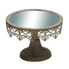 Benzara Metal Cupcake Plate Brandishing Metallic Construction