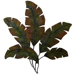 Benzara Metal Palm Wall Decor With Palm Tree Leaves