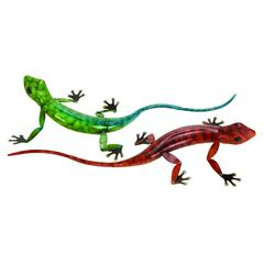 Metal Lizard 2 Asst A Set Of Two Lizards