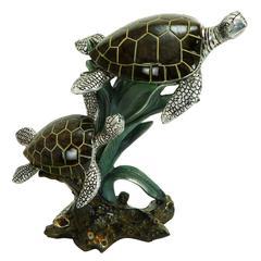 Benzara Polystone Sea Turtles Suitable For Kids Room Too