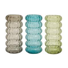 Benzara Colorful Stylish Glass Vase 3 Assorted