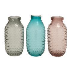 Benzara Fascinating Styled Glass Vase 3 Assorted