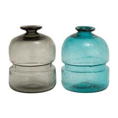 Benzara Amazing Patterned Glass Vase 2 Assorted