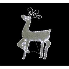 "35"" Standing Reindeer With 144 Led Lights Decoration"
