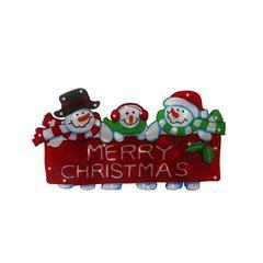 """Benzara 9"""" Snowman Family Indoor Hanging Decor W/ 20 Halogen Lights"""