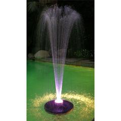 Benzara Floating Spray Fountain With 48 Led Light And 550 Gph Pump