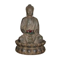 Tabletop Buddha Water Feature W/ Led Light