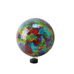 "Benzara 10"" Multi Color Mosaic Gazing Globe"