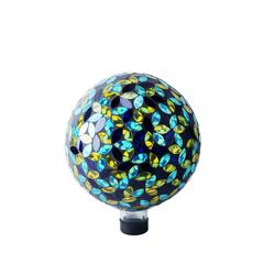 "10"" Mosaic Gazing Ball Blue/Yellow"