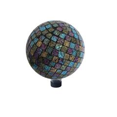 "Benzara 10"" Purple/ Blue/Yellow Mosaic Gazing Globe"