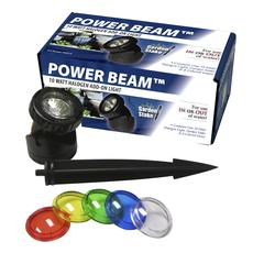 Power Beam 10 W Light Only 23Ft Cord W/ Color Lenses & Stake