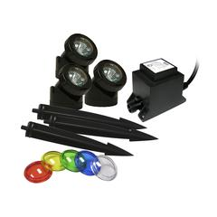 Power Beam Set Of 3, 10 W Lights W/ Transformermer 23 Ft. Cord