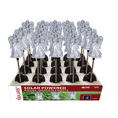 Benzara Solar Angel Garden Stake - Tray Pack Of 20