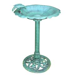 Benzara Bird Bath- Bird On Side