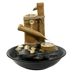 Eternity Tabletop Fountain: Bamboo Slide (Large)