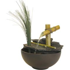 Benzara Eternity Tabletop Fountain: Calming Bamboo
