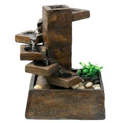 Benzara Eternity Tabletop Fountain: Step Stone