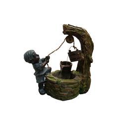 Benzara Polyresin Boy Fetching Water