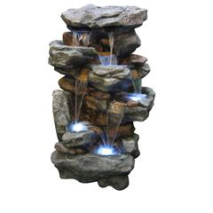 "Rainforest Waterfall Fountain Led Lights 51""H"