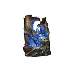 14 Inch Tree Trunk Tabletop Fountain With Led Light