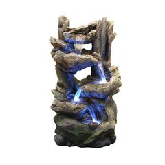 38 Inch Tiering Rainforest Fountain With Led Lights