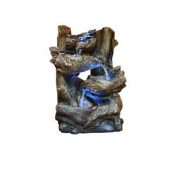 14 Inch Tiering Rainforest Fountain With Led Lights - Small