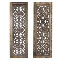 Elegant Wall Sculpture - Wood Wall Panel 2 Assorted