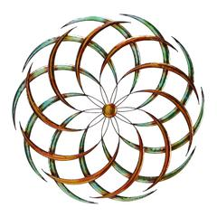 Benzara Modern Circular Metal Wall Decor, Multicolor