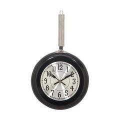 Metal Black Wall Clock, Medium