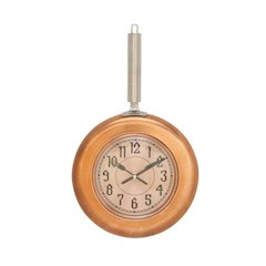 Copper Finish Metal Wall Clock