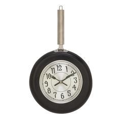 Black Finish Metal Wall Clock