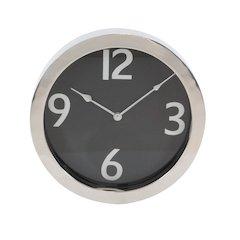 Foyer Steel Round Wall Clock, Silver