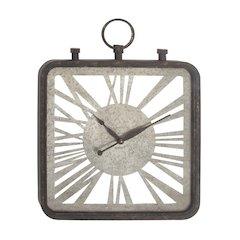 Exquisite Wood Metal Wood Wall Clock