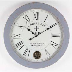 Round White Wood Wall Clock