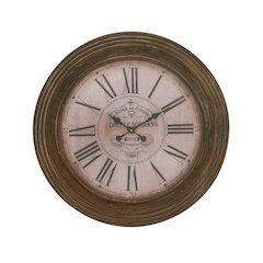 Antiqued Wood Wall Clock