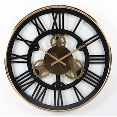 Elegantly Styled Stainless Steel Wall Clock, Large