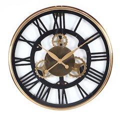 Artistically Designed Stainless Steel Wall Clock, Medium