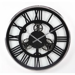 Modish Stainless Steel Wall Clock,