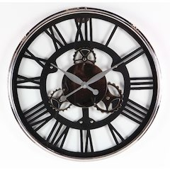 Modish Styled Stainless Steel Wall Clock