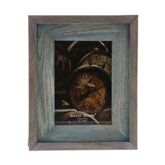 Wonderful Wood Photo Frame, Brown And Turquoise