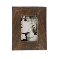 Outspread Wood Picture Frame, Brown