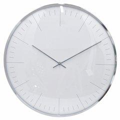 Classic Wall Clock - Large - Silver - Benzara